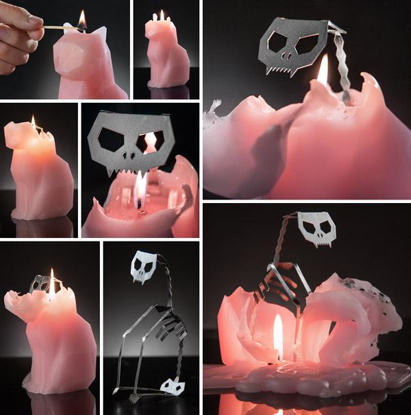 PyroPet candela scheletro