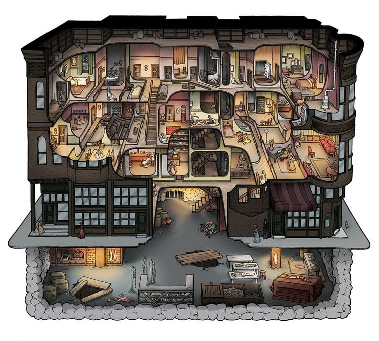 H h holmes e il suo castello degli orrori emadion for Creatore del piano terra del negozio