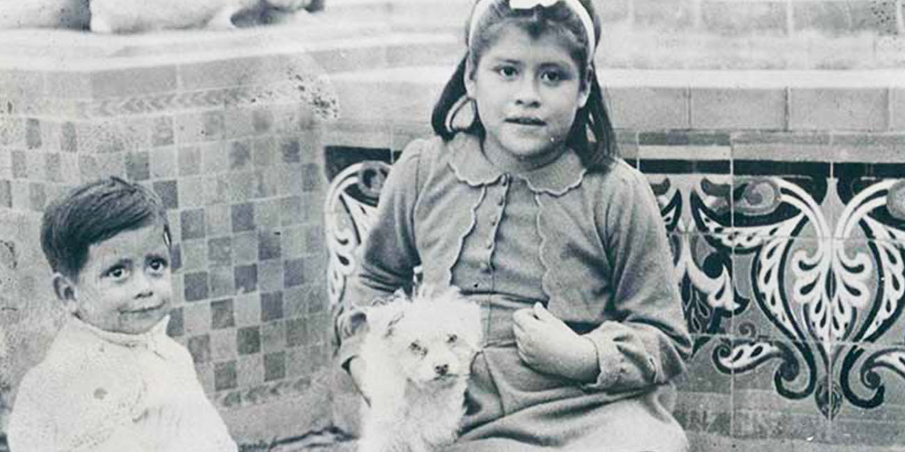 Lina Medina and her son